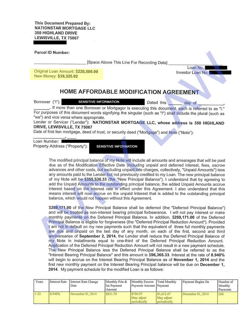 Approved Cases Loan Modification Foreclosure Prevention